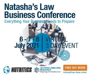 Nutritics Natashas law - May 2021